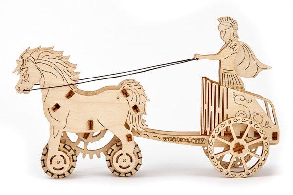 roman chariot 3d puzzle model
