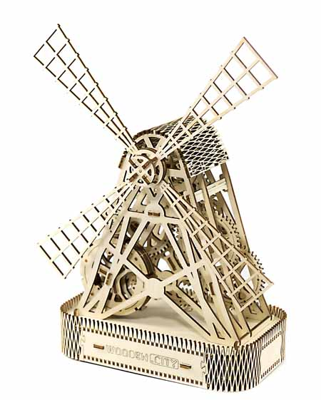 mill 3D puzzle side view toy for teenagers