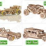 four racing cars