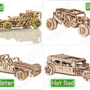 four racing cars